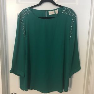 Like New Chico's Emerald Green Top, Size 3